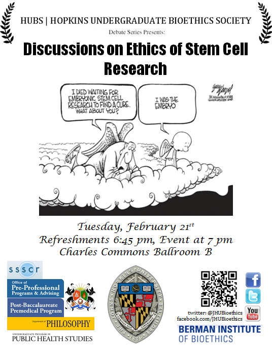 the ethical questions on the topic of stem cell research in society today